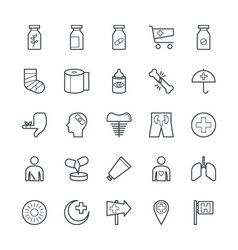 Medical and Health Cool Icons 5 vector
