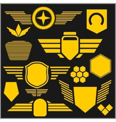 Military symbol icons - set vector image