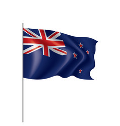 New zealand flag on a white vector