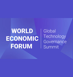 Organization cooperation world economic forum 2020 vector