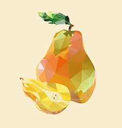 pear polygonal vector image