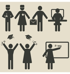 People science education icons vector image