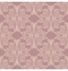 Pink baroque pattern vector