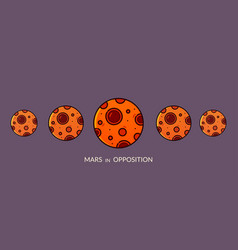 planet mars in opposition vector image