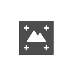 Print concept glyph icon polygraphy symbol vector