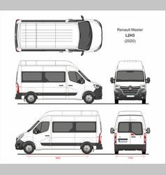 Renault master passenger van l3h2 2020 vector