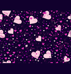 Romantic seamless pattern love background vector