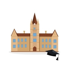 School and university building icon vector image
