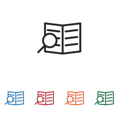 search document icon vector image
