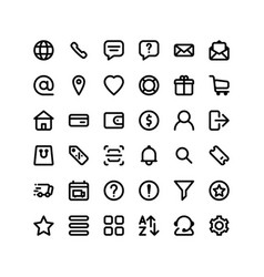 set ecommerce icons 36 icons for web and vector image