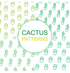 set with patterns of green line isolatet icons of vector image