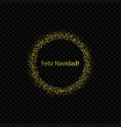 spanish christmas label vector image