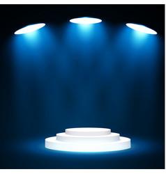 stage podium with lighting stage podium scene vector image