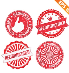 Stamp sticker recommended collection - - EP vector