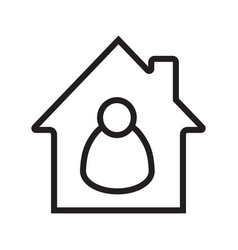 Tenant resident linear icon vector