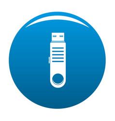 usb icon blue vector image