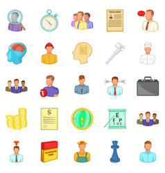 Vacancy icons set cartoon style vector