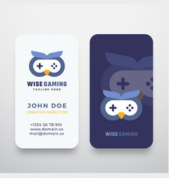 Wise gaming abstract sign or logo and vector