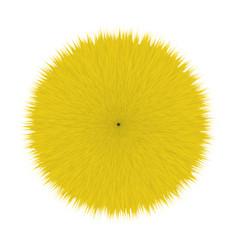 yellow fluffy hair ball vector image