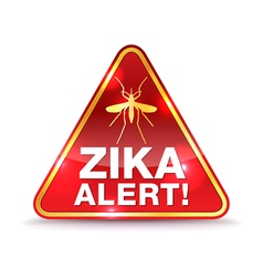 Zika Alert Icon vector