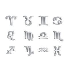 zodiac signs 2 vector image