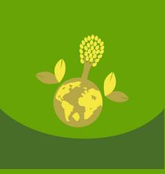 eco friendly green energy concept solar energy vector image vector image