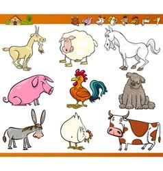 farm animals set cartoon vector image vector image