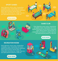game rooms flat 3d isometric vector image vector image