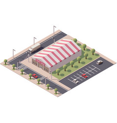 isometric sale tent store vector image vector image