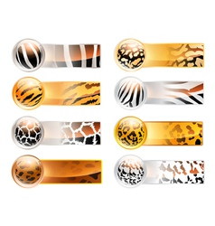variety of 8 horizontal web banner vector image