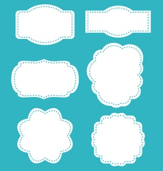 Vintage labels set isolated on black background vector image vector image