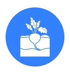 Beet icon black Single plant icon from the big vector image vector image