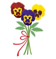 bouquet of violets vector image