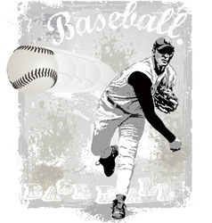 Pitcher strike vector image vector image