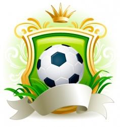 soccer ball vector image