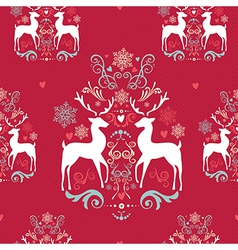 Vintage Christmas elements seamless pattern vector image