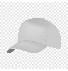 white cap side view mockup realistic style vector image