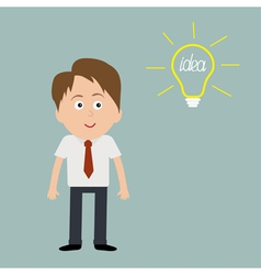 Businessman and bulb Idea concept vector image