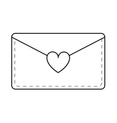 email envelope message love line vector image