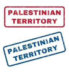 Palestinian territory rubber stamps vector