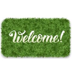 Welcome mat vector image