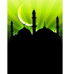 eid ul fitar background vector image