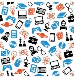 geek seamless pattern vector image
