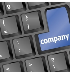 keyboard buttons company key - business concept vector image