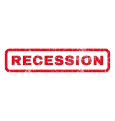 Recession Rubber Stamp vector image vector image
