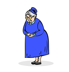 Senior lady with glasses Grandmother standing vector image