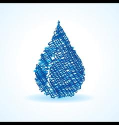 Sketched blue waterdrop design stock vector image
