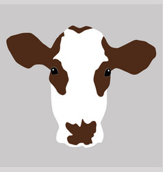 A portrait of a cow vector