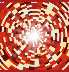 abstract red round mosaic background vector image vector image