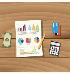 Accounting business paper document work vector
